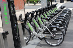 Arrendamento da bicicleta de Hubway em Boston miliampère Fotos de Stock