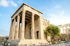 Arrephorion temple. The ruin of Arrephorion temple locates in Acropolis, Athens, Greece Royalty Free Stock Photos