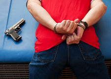 Arrest armed criminal Stock Photography