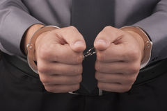 Arrest handcuffs Stock Photo