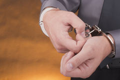 Arrest handcuffs Royalty Free Stock Photography