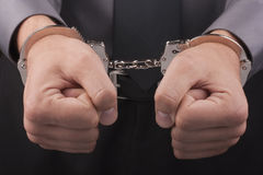 Arrest handcuffs Stock Photography