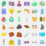 Arrest icons set, cartoon style. Arrest icons set. Cartoon style of 36 arrest vector icons for web for any design vector illustration