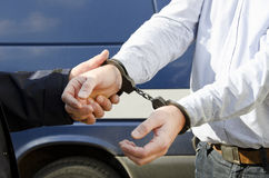 The arrest of a man Royalty Free Stock Photo