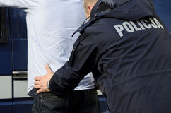 The arrest of a man Stock Photo