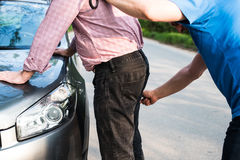 The arrest of a man royalty free stock photography
