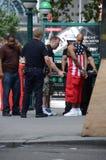 Arrestatie in New York stock foto's