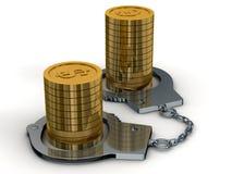 Arrestatie van geld. royalty-vrije illustratie