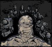 Arrestatie van Overtreder stock illustratie