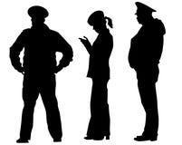 Arrestatie van politie  vector illustratie