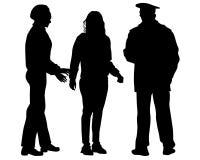 Arrestatie van politie twee royalty-vrije illustratie