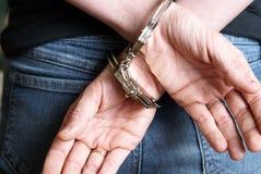 Arrestato fotografie stock