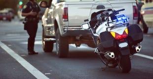 Arrestato nel traffico Fotografia Stock Libera da Diritti