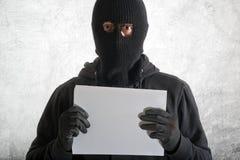 Arrested burglar stock photography