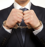 Arrested businessman Royalty Free Stock Images