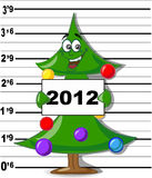 Arrested Christmas Tree,vector. Arrested Christmas Tree , vector  illustratioh picture Stock Photos