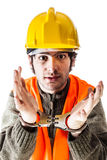 Arrested engineer Stock Image