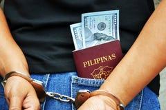 Arrested Filipino Citizen Stock Image