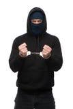 Arrested handlocked theft. Under arrest. Theft concept Stock Photography