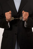 Arrested man Royalty Free Stock Image