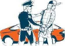 Arrested. Man. color  illustration Stock Photo