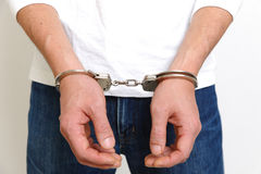 Arrested man Royalty Free Stock Photo