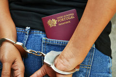 Arrested Portuguese Citizen Stock Photography
