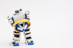 Arrested robot. A robot is arrested and hands in handcuffs Stock Photography