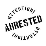 Arrested rubber stamp Stock Photo