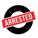 Arrested rubber stamp Royalty Free Stock Image