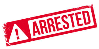 Arrested rubber stamp Stock Photos