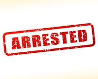 Arrested text buffered on white background. Illustration of arrested text buffered on white background Royalty Free Stock Image