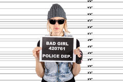 Arrested Woman Royalty Free Stock Images