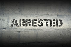 Arrested WORD GR Royalty Free Stock Images