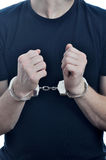 Arrested young men. On white background Stock Photo