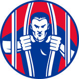 arresten för okstraffångeescapen ut fängslar fånget Royaltyfri Fotografi