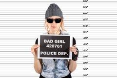 Arresterad kvinna Royaltyfria Bilder