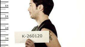 Arresterad man arkivfilmer
