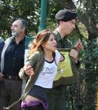 arresterad person som protesterar tibet Royaltyfri Fotografi