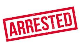 Arresterad rubber stämpel Royaltyfri Bild