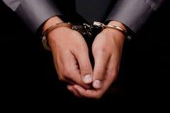 arresterat förhör Royaltyfria Bilder