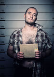 arresterat manfoto Arkivfoto