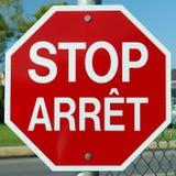 Arresti il colore rosso del segno di Arret Fotografie Stock