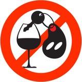Arresti il segno dell'alcool Fotografie Stock