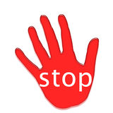 Arresti il simbolo Immagine Stock Libera da Diritti