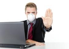 Arresti il virus del Internet Fotografia Stock Libera da Diritti