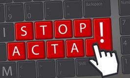 ARRESTI L'ACTA Immagini Stock Libere da Diritti