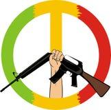 Arresti la guerra - simbolo di pace Illustrazione di Stock