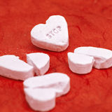 Arresti (in nome di amore, prima che rompiate il mio cuore) Fotografia Stock Libera da Diritti
