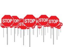 ARRESTO dei segnali stradali Fotografie Stock